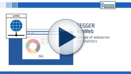 SEGGER emWeb live statistics: Demonstrating web server live statistics