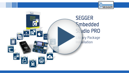 SEGGER Embedded Studio PRO: Library Package Installation