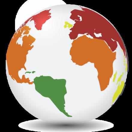language globe of the world