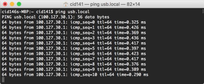 virtual ethernet mac ping