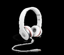 white overear headphones