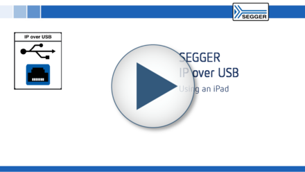 SEGGER IP over USB: Using an iPad
