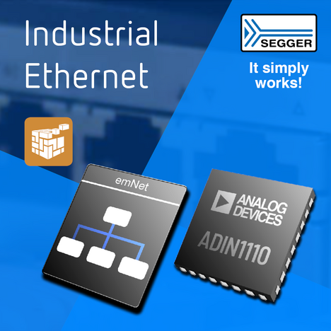 SEGGER News: SEGGER and Analog Devices Collaboration Delivers Communication Solution for Industrial Ethernet-APL