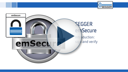 SEGGER emSecure: Introduction - Sign and verifyn general