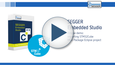 SEGGER Embedded Studio: Eclipse demo - Importing STM32Cube MCU Package Eclipse project