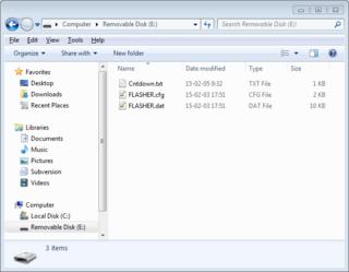 authorized flashing files before secure