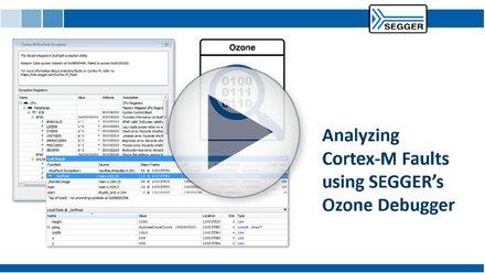 thumbnail analyzing Cortex M faults with Ozone