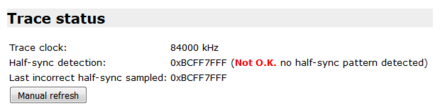 trace status not ok