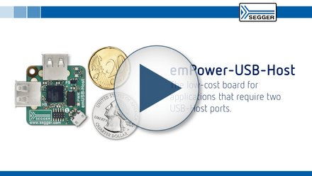 SEGGER emPower-USB-Host: The low-cost board for applications that require two USB-Host ports