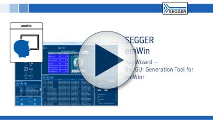 SEGGER emWin: AppWizard - the GUI generation tool