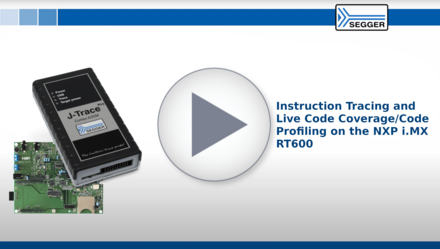 Instruction tracing and live code coverage/code profiling on the NXP i.MX RT600