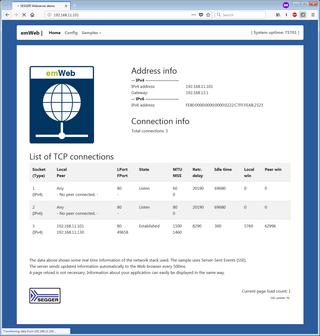 Embedded Web Server SSE IPStats