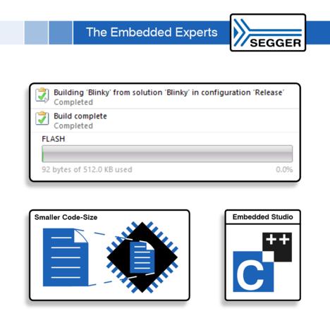Better code size optimization with Embedded Studio v5