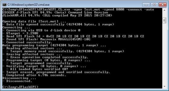J-Flash SPI Command Line Version