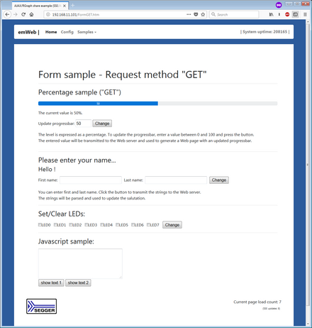 Embedded Web Server - Forms
