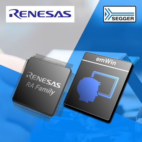 SEGGER News: SEGGER announces that Renesas has extended its emWin license to include all RA microcontrollers
