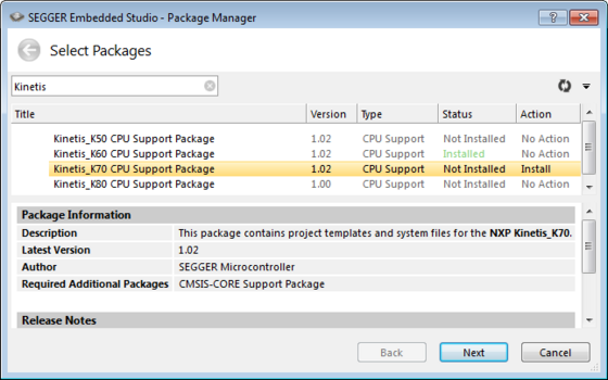 embedded studio package manager