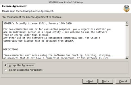 Linux Studio Setup (2/6) License