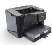 black printer with paper tray