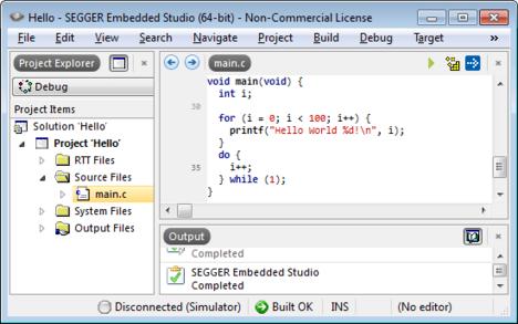 embedded studio firststart