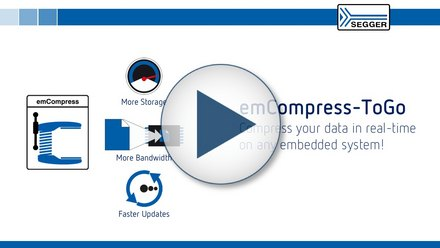 SEGGER emCompress-ToGo: Compress your data in real time on any embedded system