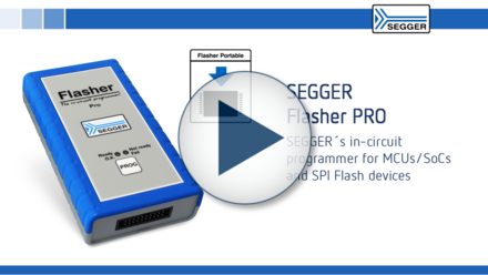 SEGGER Flasher PRO: SEGGER's in-circuit programmer for MCUs/SoCs and SPI Flash devices