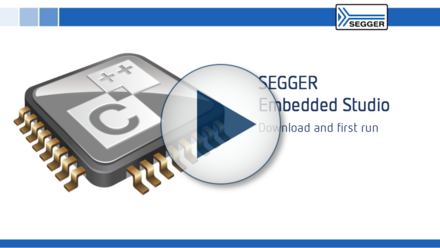 SEGGER Embedded Studio: Download and first run