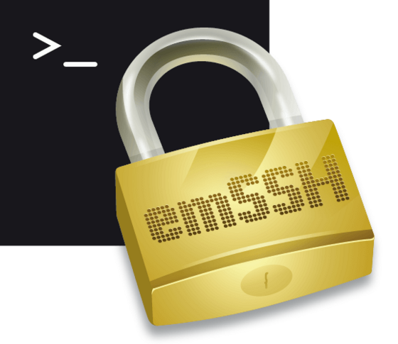 emSSH Logo (Black)