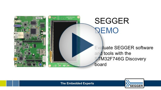 SEGGR - Video Thumbnail STM32F746G Discovery board