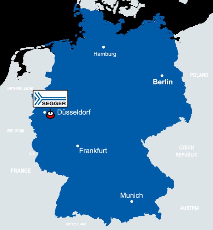 SEGGER Headquarters HQ (Monheim am Rhein) Map of Germany