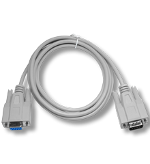 White RS232 cable 1:1 female / male