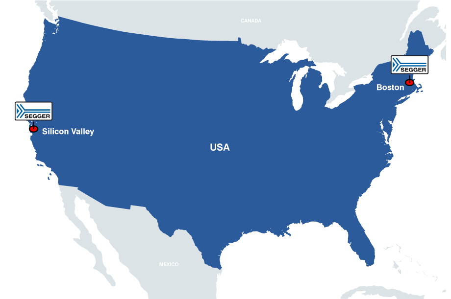 SEGGER Offices Map of USA