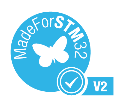 MadeForSTM32 Certification by STMicroelectronics for embOS