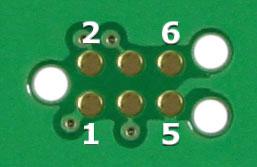 6-Pin Needle Adapter PCB