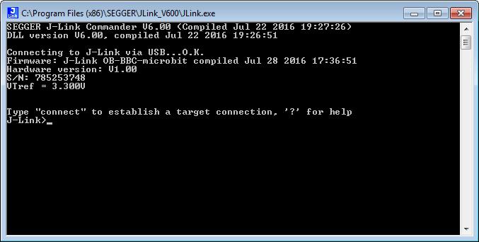 J-Link BBC microbit VerifyConnection