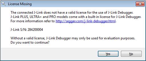 J-Link Debugger Missing