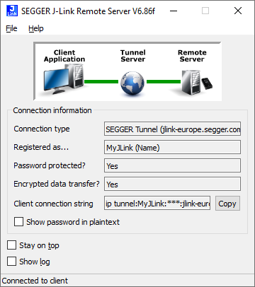 Remote Server Connected