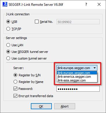 RemoteSrv Server Selection