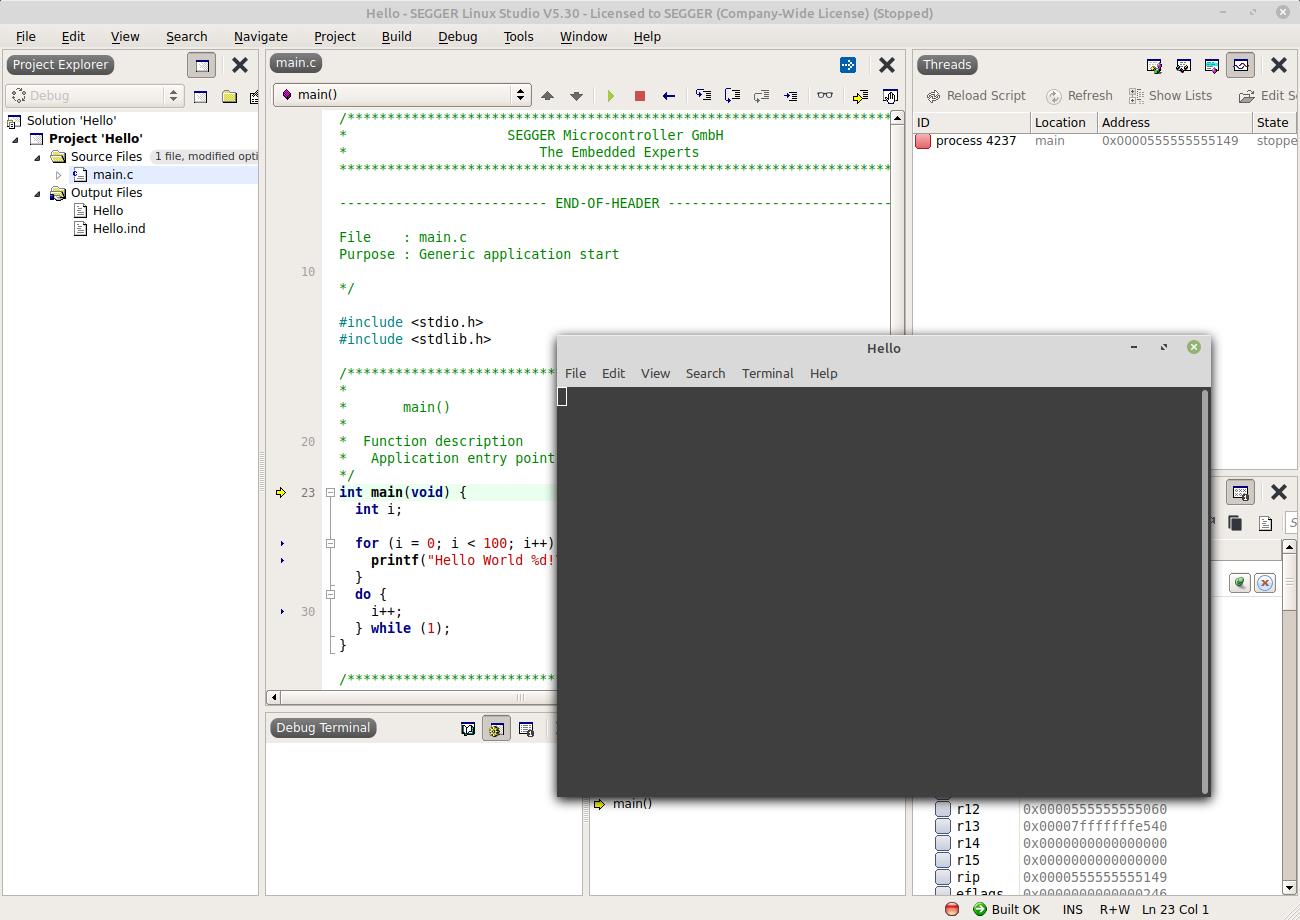 Linux Studio Hello World (1/2)